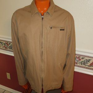 MENS ABERCROMBIE FITCH CANVAS WORK JACKET SIZE XL